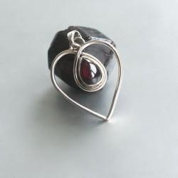 Granaat hart hanger zilver 925
