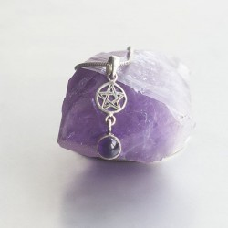 Amethyst Pentagram symbool hanger zilver 925