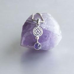 Amethyst Keltische knoop symbool hanger zilver 925