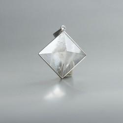 Golden healer piramide hanger zilver 02