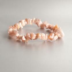 Maansteen oranje armband split