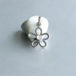 Regenboog Maansteen bloem symbool hanger zilver 925