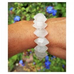 Bergkristal dubbeleinders armband