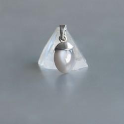 Grijze Maansteen hanger 925 zilver