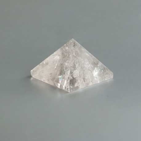 Bergkristal edelsteen piramide 07 (36 mm)