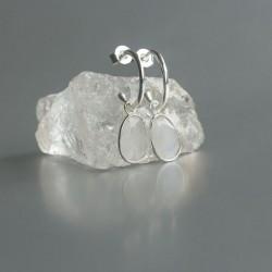 Regenboog Maansteen oorstekers zilver 925 (model E5-072)