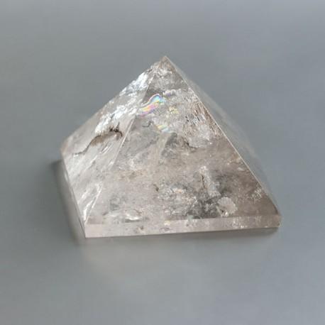 Bergkristal edelsteen piramide 08 (51 mm)