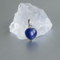 Lapis Lazuli hart hanger zilver 925 (model P7-102)