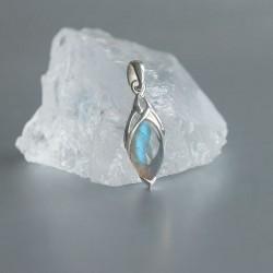 Labradoriet symbool hanger zilver 925