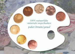 100% natuurlijke minerale oogschaduw bruin- & goudtinten