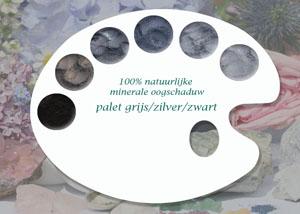 100% natuurlijke minerale oogschaduw grijs-, zilver- & zwarttinten